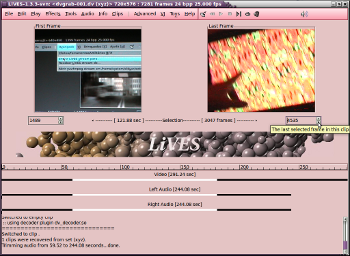 LiVES video editor and VJ tool